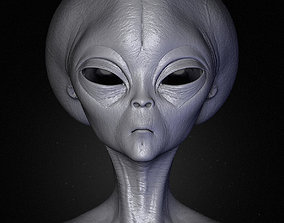 3D Realistic Alien 3 Sculpt