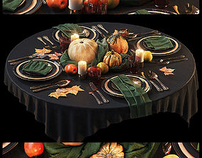 Halloween Table setting 3 3D model