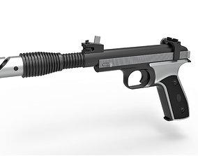 3D model Blaster pistol Defender 5 from Star Wars The 2
