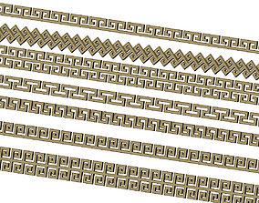 3D printable model Meandre Greek key pattern strips