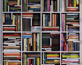 Set of books 3D model lot