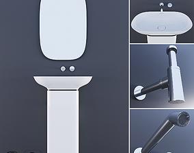 3D model PURE Krion ESPEJO PURE NEGRO Bathroom Taps TONO 2