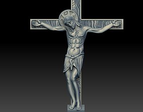 3D print model coins-badges JESUS ON THE CROSS christ