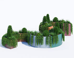 3D model Modular planters