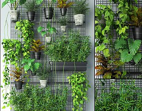 Wall Grid Plant Pot 4 3D model