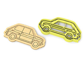 Fiat 126p cookie cutter 3D printable model