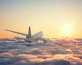 Plane in Clouds 3D model