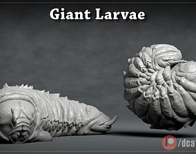 Giant Larvae - 3D Printable Character - 2 Poses