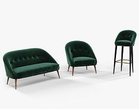 3D Brabbu Malay armchair sofa and bar chair