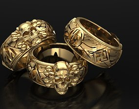 skull ring dead 3D print model