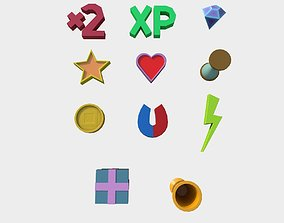 3D asset Powerups pack for your game