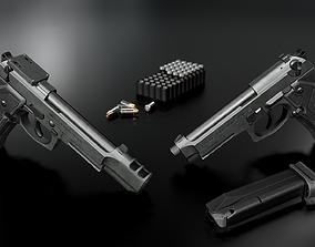 3D asset Beretta M9A3 9MM Handgun