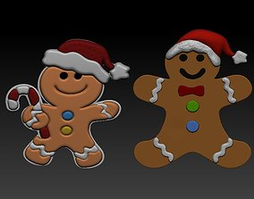 christmas biscate decoration 3d model3d