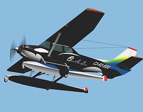Sea Plane Ocean Air Line update model 3D