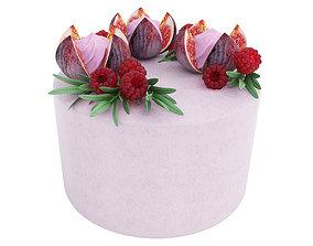 3D model Violet fig cake