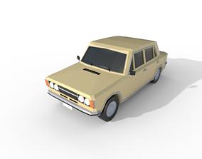 Fiat 124 Special 1973 - 1631 poly - 7 Diffirent 3D model