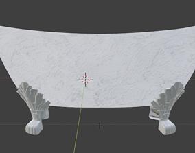 Bathtub 3D model game-ready