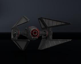 First Order TIE Interceptor 3D asset