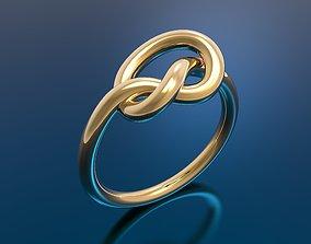 art 3D printable model knot ring
