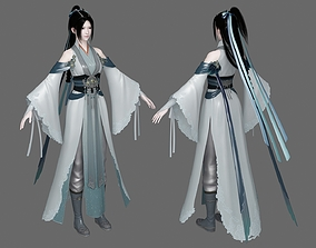 3D model Ancient Beauty pretty Ancient Chinese Traditional