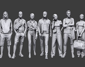 3D model Lowpoly People Casual Pack Volume 23
