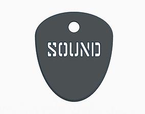 3D printable model GUITAR PICK SOUND 1mm