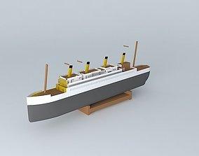 BOAT DECO POSEIDON 3D model