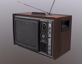 80s Retro Television 3D asset