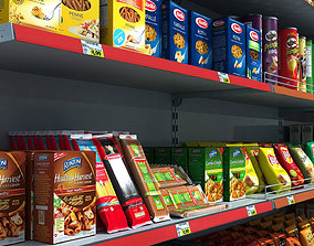 3D Supermarket Shelves Pack