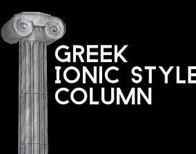 3D model Ancient Greek Ionic Column
