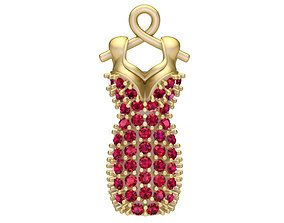 1942 Diamond Dress Pendant 3D printable model