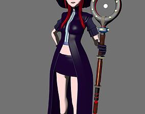 Modern Witch Girl 3D model