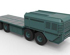 military 3D model Truck