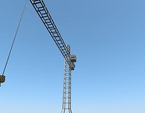 3D model Rigged Crane
