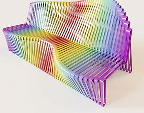 3D model Parametric color bench