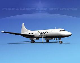 Convair CV-340 Unmarked 2 3D