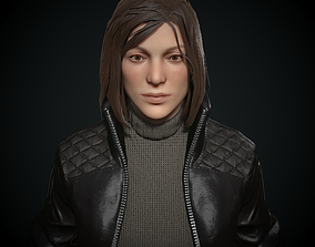 3D asset stylized woman