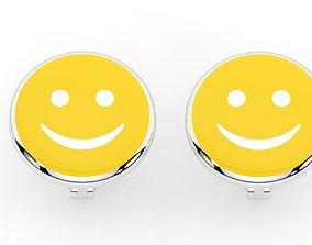 3D printable model childrens earrings smile
