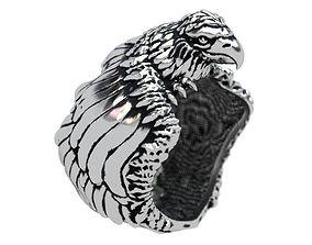 jewelry 3D print model Hunting the hawk