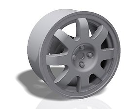 8 spokes rim - llanta 3D printable model race