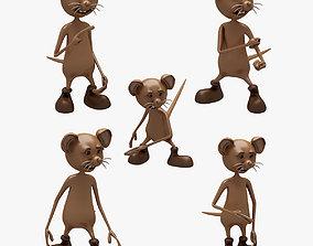 Cartoon Mouse 001 002 7 ANIMATION 3D
