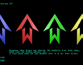 3D model Low poly arrow 37