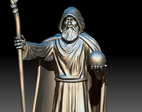 Wizard 3D printable model mage