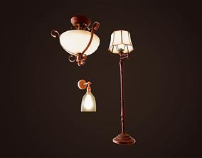 Vintage Lamps Pack 3D asset