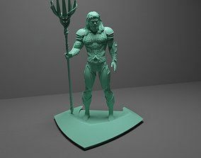 dc AQUAMAN WITH TRIDENT 3D PRINTABLE MODEL