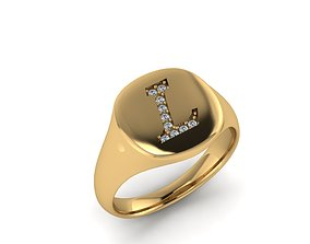 3D print model Jewelry Signature Ring silver