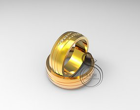 3D print model Wedding rings for bride and groom