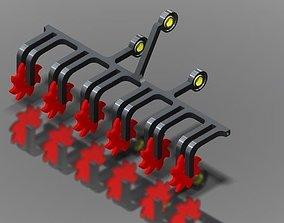 Spring cultivator 3D model