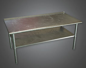 3D asset Kitchen Prep Table 01 KTC - PBR Game Ready