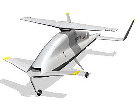 X-50A Dragonfly UAV 3D model